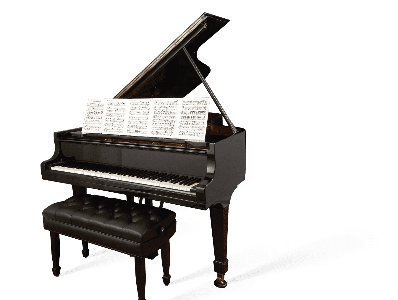 piano with sheetminder on it.